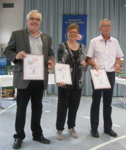 Jubilare Manfred Lambrich, Trude Knewitz, Georg Lambrich