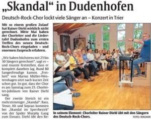 Skandal in Dudenhofen